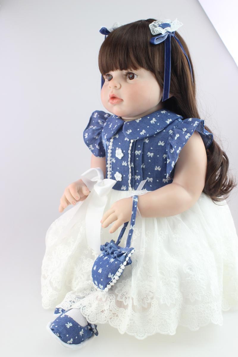 2019 28  BAMBINO BEBE RINATO Baby Girl Doll likelife Silicone Vinile neonato giocattolo