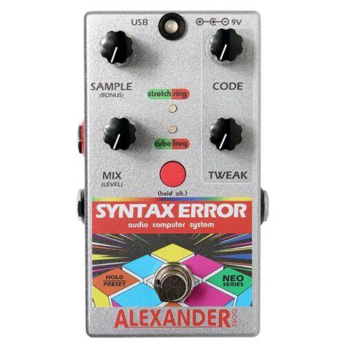Alexander Pedals Syntax Error Glitch Guitar Effects Pedal