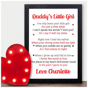 Image Is Loading Personalised Daddy 039 S Little Girl Gifts From