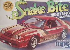 1981 '81 FORD MUSTANG SNAKE BITE  MPC 1-0712 2N1  STOCK STREET  1:25 WRAPPED KIT