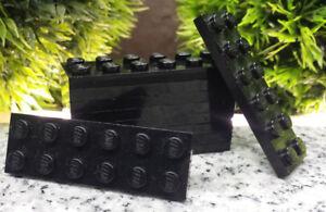 10x Lego® 2x6 Basic Platte Plate Steine schwarz black K6