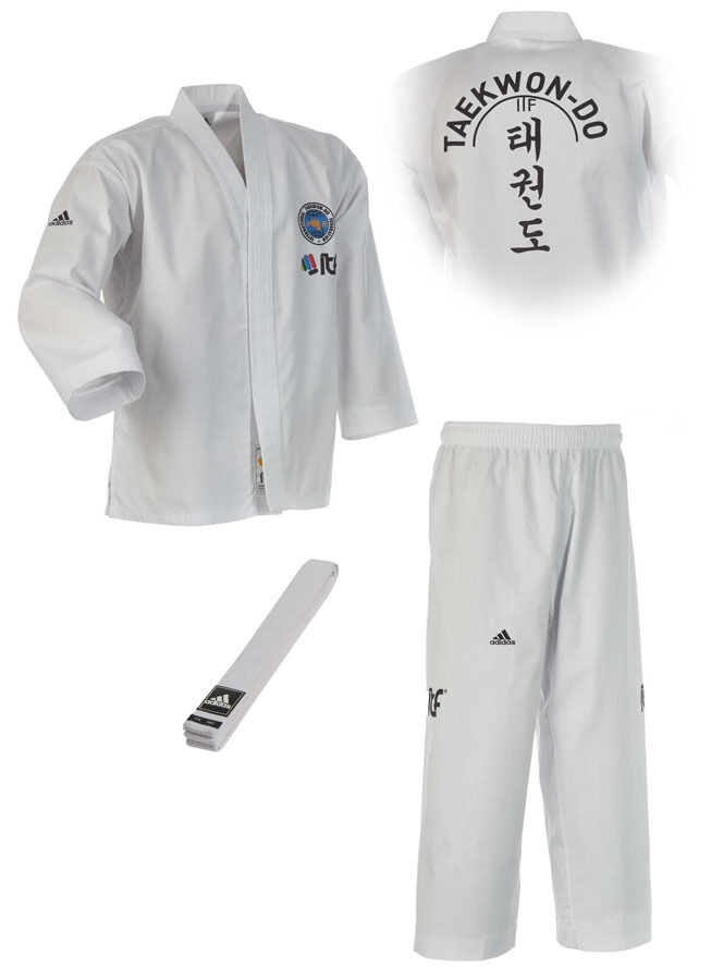 Adidas ITF Student Dobok Dobok Dobok ADITITF01. Größe  120-200. Taekwondo Anzug. TKD c8b58a