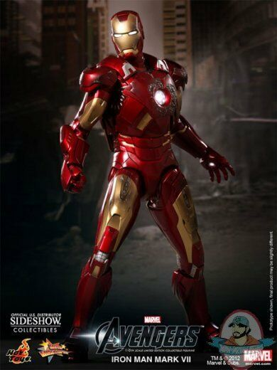The Avengers Iron Man Man Man Mark VII 1 6 Scale Figure by Hot Toys Used JC 642de5