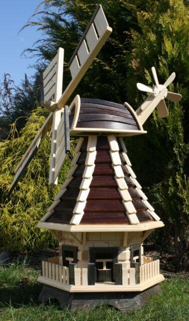 Holzwindmühle braun//natur Typ 1