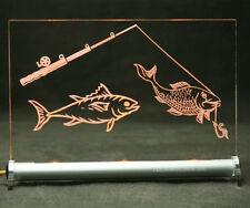 Angeln - Fischen - Fisch -  LED Leuchtschild    fish