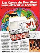 PUBLICITE  1970   LES CAVES DU POSTILLON   vins