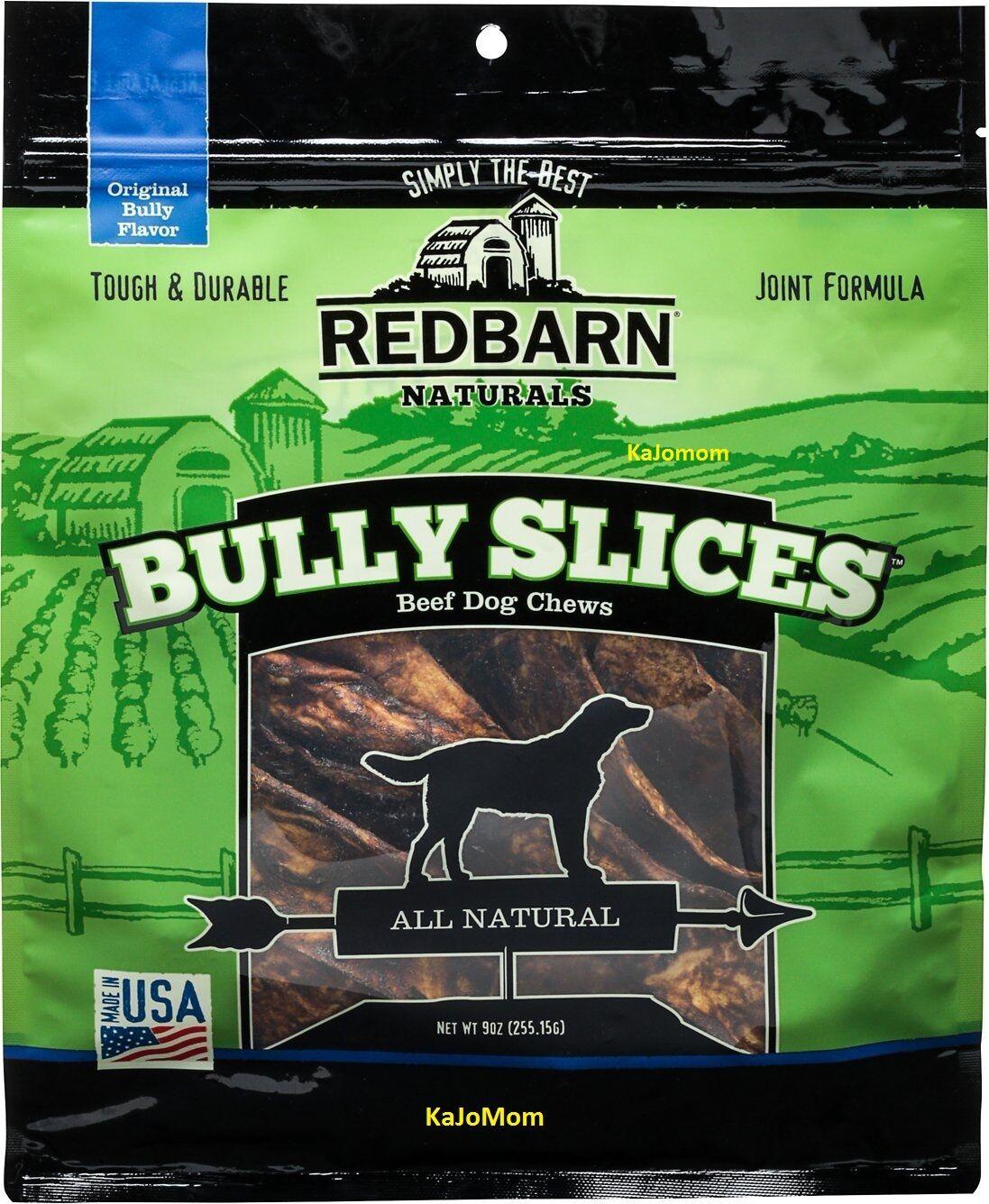 6 Bags RedBarn BULLY SLICES 9oz Pet Dog Chews Treats Natural FRESH Sealed USA