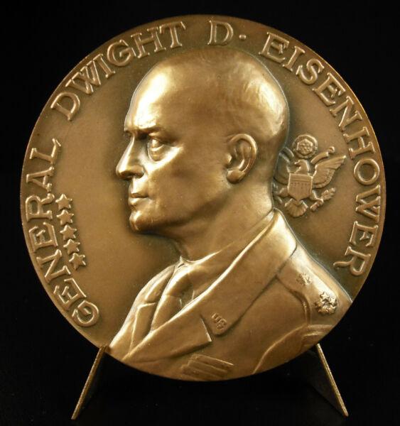 100% Vrai Médaille Dwight D. Eisenhower Commandant Des Forces Expéditionnaires Usa Medal