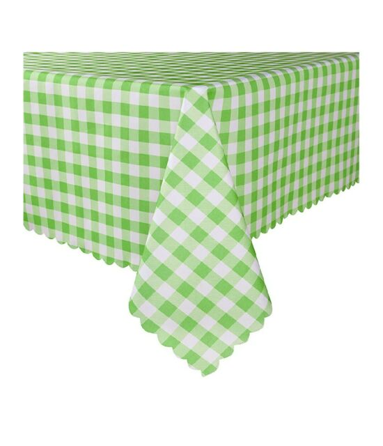 60 x 84 Inch Checkered Rectangle Table Cloth - Stain ...