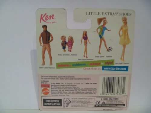 "Little Extras /""Cool SHOES/"" /""NEW/"" By Mattel MIP Ken Shoes"