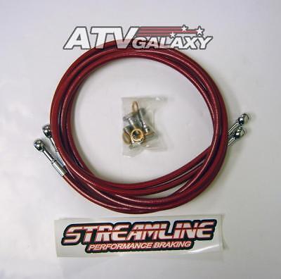 Streamline 11 Way Steering Stabilizer RED Yamaha YFZ450 YFZ 450 04 05 06 07 08