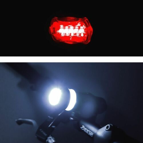 Waterproof 5 LED Lamp Bike Bicycle Front Head Light Rear Safety Flashlight New