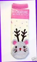 Bath & Body Works Cute Grey Mouse Antlers Shea Infused Lounge Socks