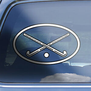 ladies hockey stick crossbones sticker Girls Field Hockey Skull Decal Sticker