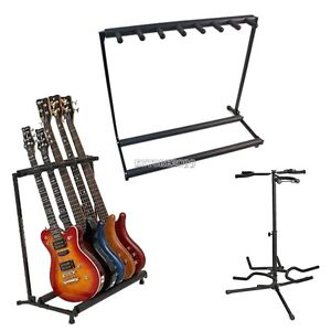 Triple-Five-Seven-Folding-Multiple-Guitar-Bass-Holder-Stand-Stage-Display-Rack