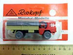 KR11-1-100-Roskopf-kein-Roco-Minitanks-Militaer-Zivil-1x-MAN-5t-Pritsche-Plane