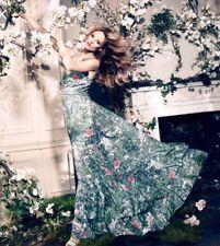 ** NEW H&M CONSCIOUS COLLECTION RAINFOREST MAXI DRESS UK 8/10 EU 36 US 6 **
