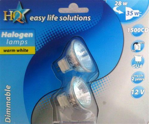 Set Reflektor Halogen Lampe 12V Dimmbar MR11 GU4 28 Watt entspricht 35 Watt