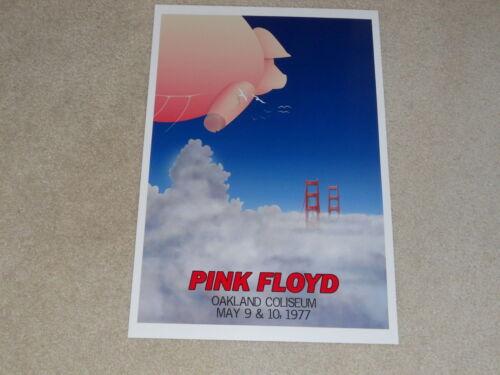 "Large Pink Floyd Oakland 1977 Concert Poster, 19""x13"" RARE! Animals Tour"