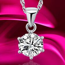 Mujer Collar Gargantilla colgante Cristal 925 Plata garra Cadena Necklace regalo