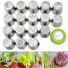 17PCS Russian Tulip Flower Icing Piping Nozzles Tips Cake Decorating Pastry Tool