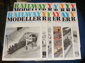RAILWAY-MODELLER-MAGAZINES-VARIOUS-ISSUES-1974