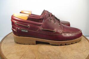 Eastland-Seville-Classic-Boat-Shoe-Moc-Toe-Burgundy-Leather-size-12-D