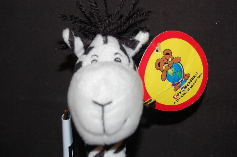 Zebra Handmade Toy Network Poseable  New New New 9