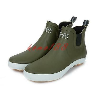 Men/'s ankle boots Pull On Rain Boots Waterproof sntiSkid elastic Shoes plus size