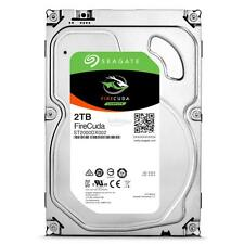 "Seagate 2TB 3.5"" FIRECUDA SSHD Drive SATA 6GB/s 64MB Cache ST2000DX002 + 5 YW"