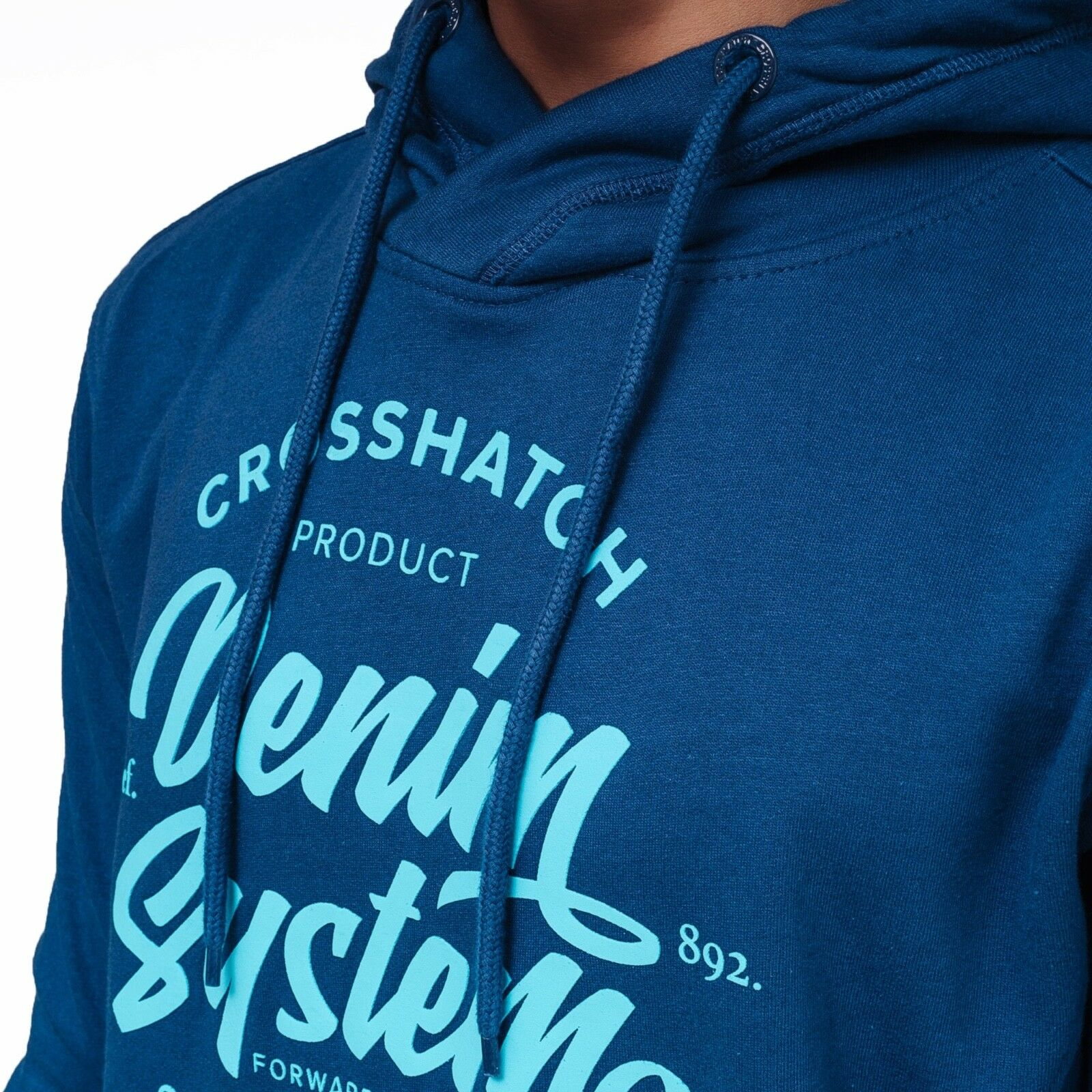 Crosshatch Homme Logo Sweat à Capuche Polaire À Sweat À Polaire Capuche Gris Bleu Marine Neuf Top 692e14