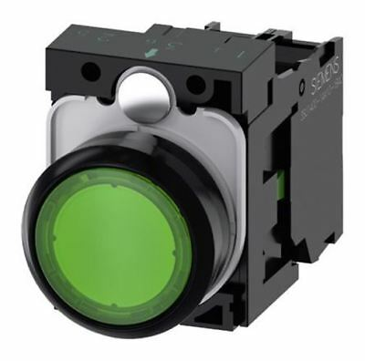 """YW1B-M1E11PG Green Sign Signal Momentary Push Button Switch 22mm 7//8/"""" 1 NO 1 NC"""