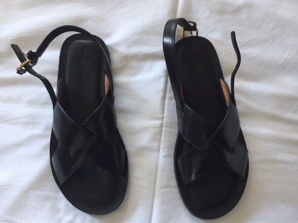 Sandali Car Car Shoe pelle nera - Car Car Shoe by Prada Leather Sandals e83f30
