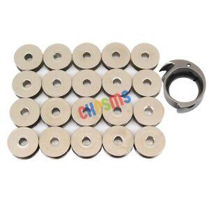 CROCHET-1PCS-CROCHET-8603-amp-20PCS-PETITES-BOBINES-8604-FIT-POUR-SINGER-29K