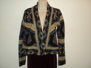BB-Dakota-M-Size-Medium-Sweater-Southwest-Aztec-Cardigan-Long-Sleeves-Open-Front