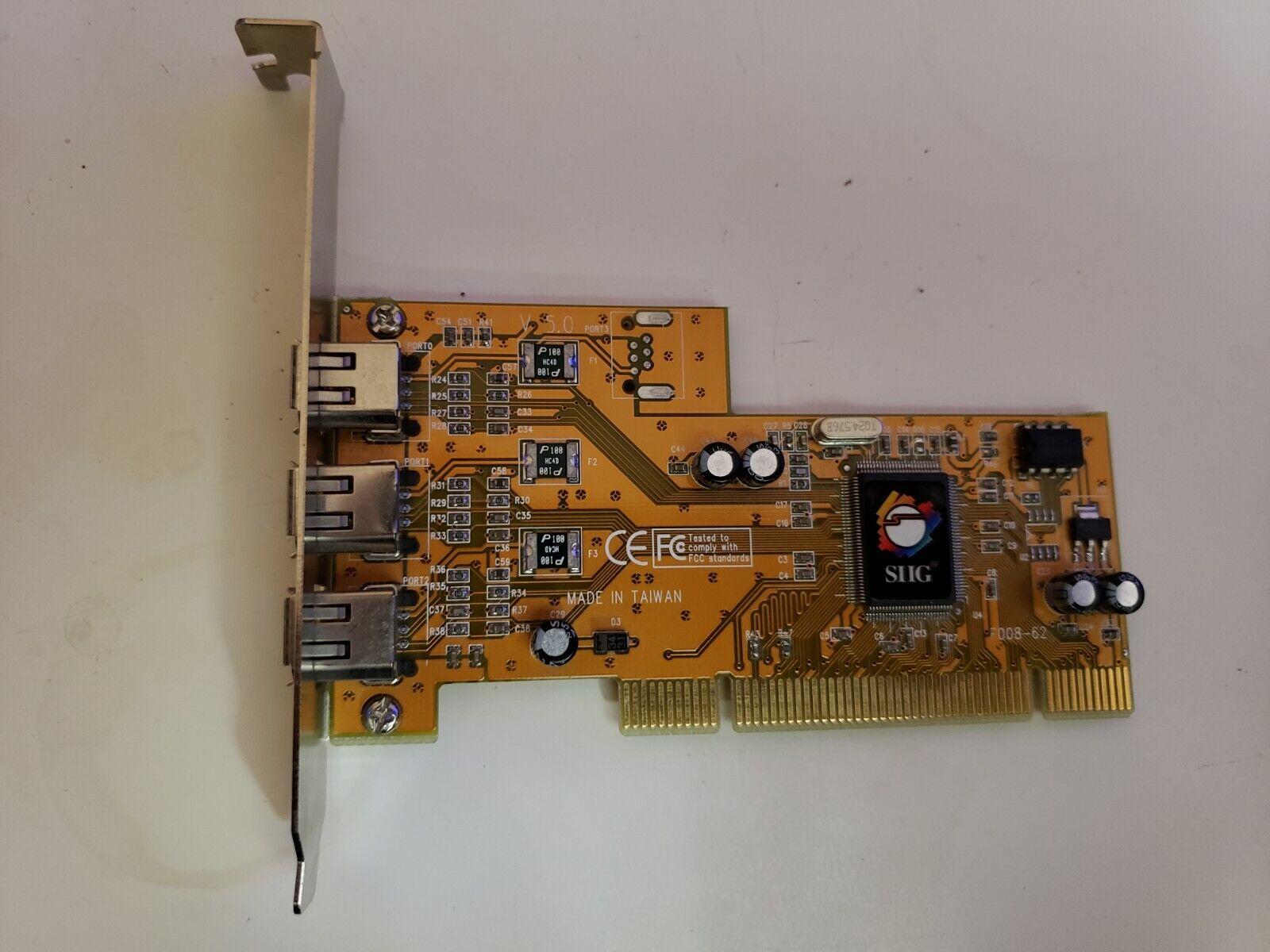 SIIG N0Z033403951 Firewall PCI 3 port 32/64 Bit Card