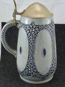 AgréAble Belle âge Hanap Céramique Zinndeckel Environ Pour 1910 Wick Oeuvres 1 L-afficher Le Titre D'origine