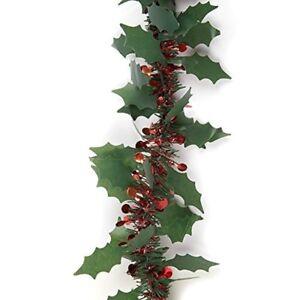 2m-Holly-amp-Berry-trama-grossa-decorazioni-200x8-cm-xmastree-Festa-Decorazione-Ghirlanda