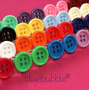 Funky 15mm Button Earrings Cute Kitsch Retro Kawaii Pop Sewing Emo Sweet Vintage