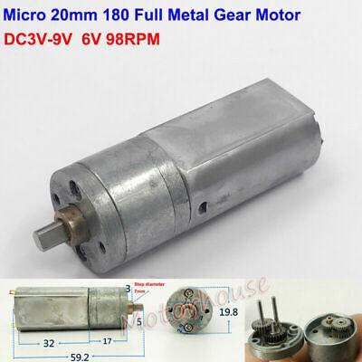 DC 1.5V 3V 4.5V 300RPM 20mm Mini 180 Full Metal Gearbox Gear Motor DIY Robot Car