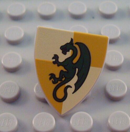 LEGO Dark Green Knights Kingdom Castle Minifigure Dragon Shield Accessory