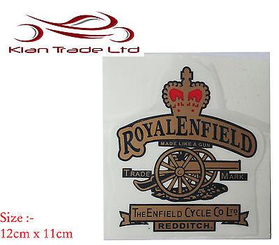 Nuovo D/'Oro Coppia Royal Enfield Parafango Posteriore Adesivo Stemma @ UK