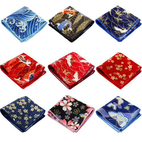 Men's Pocket Square Stylish Floral Pattern Wedding Party Business Handkerchief