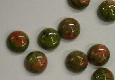10pcs 8mm Natural Hematite Calibrated Round Cabochon Gemstones Gems Cab Jewelry