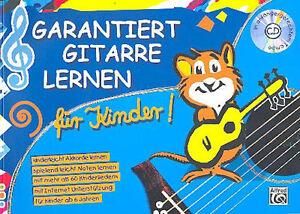 Garantiert-Gitarre-lernen-fuer-Kinder-Bd-1-CD-1-Original-Sharkfin-Plec-weiss