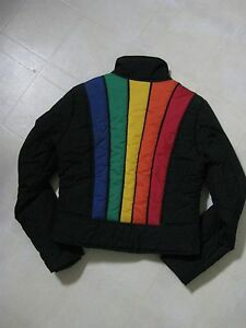 RARE-Tommy-Hilfiger-Jacket-Coat-Multi-Color-Back-Detail-Size-M-BNWOT