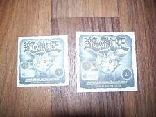 """Merlin stickers """"Yu-Gi-Oh 1996"""" 2 sticker/imágenes (19 y 21)"""