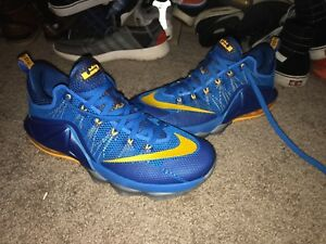 1dc7da674a69 NIKE LEBRON XII 12 LOW Blue Yellow Entourage Basketball 724557-484 ...