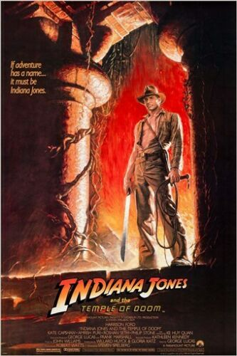 INDIANA JONES and the TEMPLE OF DOOM movie poster HARRISON FORD actor 24X36