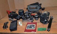 Ricoh camera manual lenses tripod flash vintage collectible photography lot